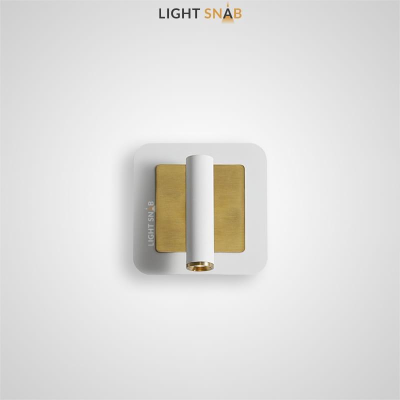 Настенный светодиодный светильник Rapid Wall B цвет белый + латунь