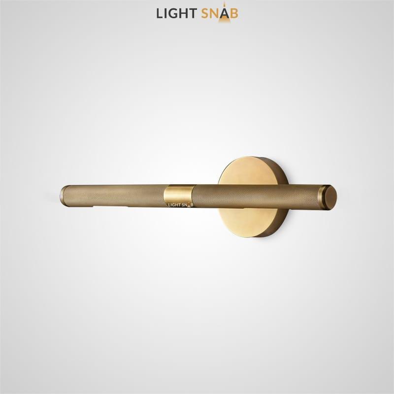 Настенный светильник Regent с рельефным плафоном вытянутой цилиндрической формы и круглым настенным креплением