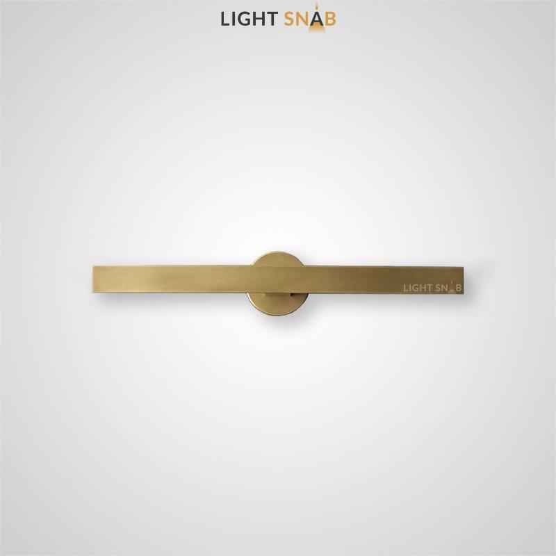 Настенный светодиодный светильник Regent B вытянутой прямоугольной формы на круглом креплении с поворотным механизмом
