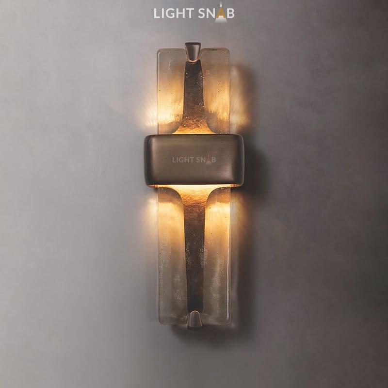 Настенный светодиодный светильник Rhyme цвет бронза