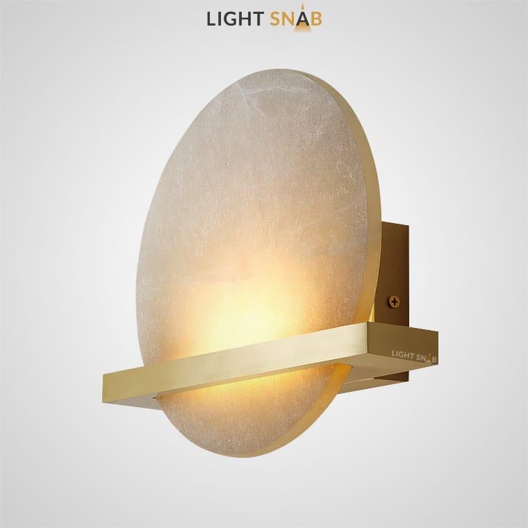 Светодиодный настенный светильник Riken в виде мраморного диска