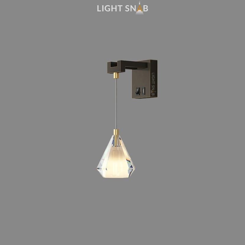 Настенный светильник Soldis Wall цвет черный