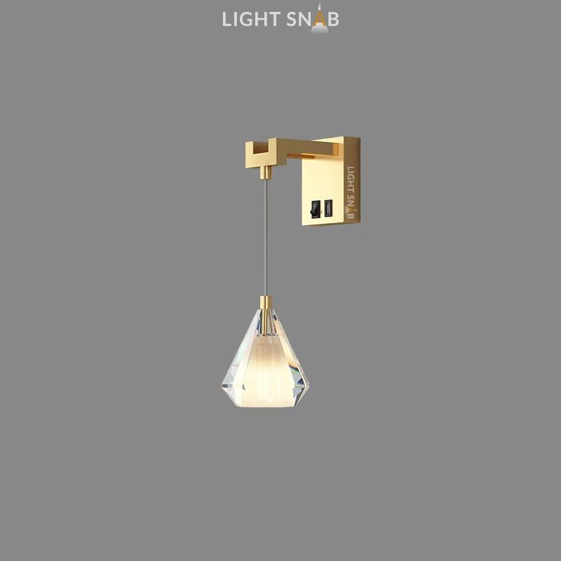 Настенный светильник Soldis Wall цвет латунь