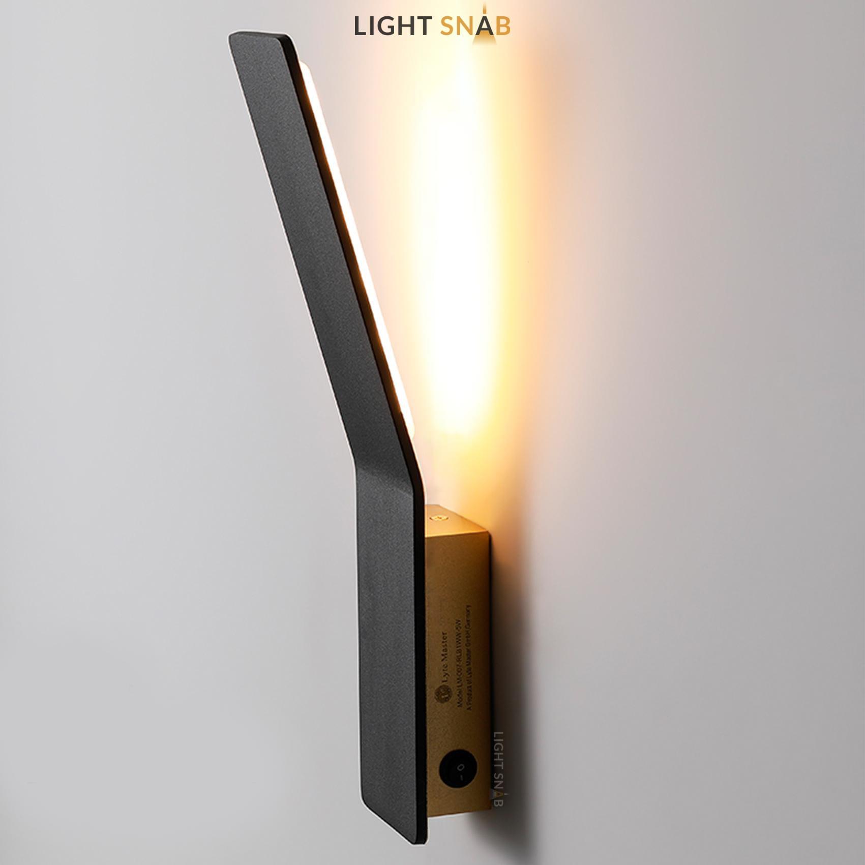 Настенный светодиодный светильник Song теплый свет