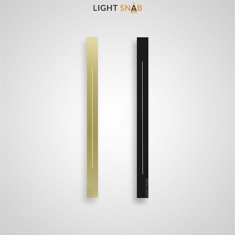 Настенный светодиодный светильник Souris вытянутой прямоугольной формы