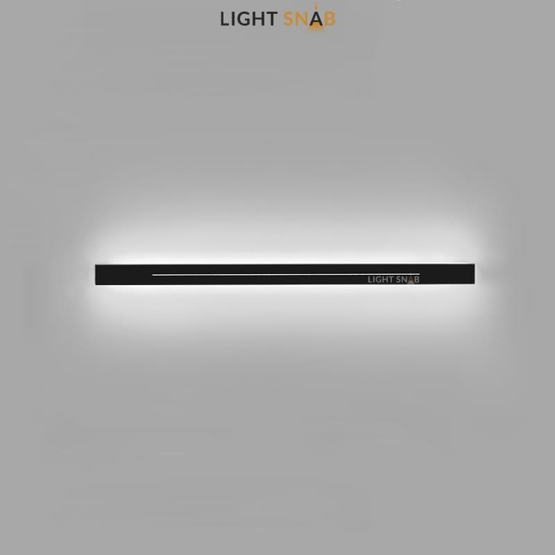Настенный светодиодный светильник Souris размер L цвет черный свет белый