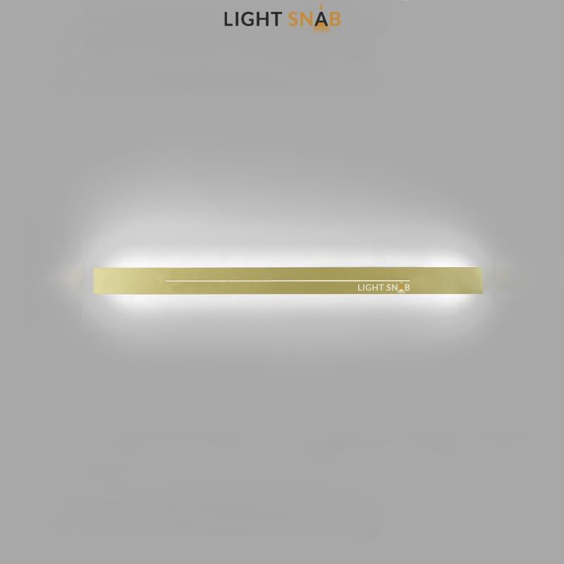 Настенный светодиодный светильник Souris размер L цвет латунь свет трехцветный