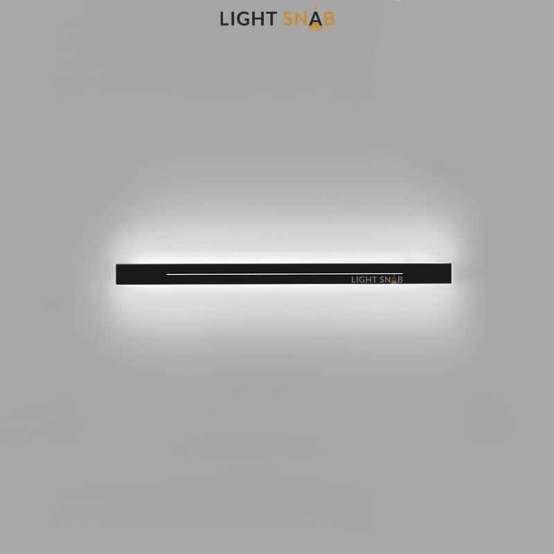 Настенный светодиодный светильник Souris размер M цвет черный свет трехцветный