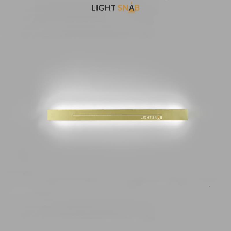Настенный светодиодный светильник Souris размер M цвет латунь свет трехцветный