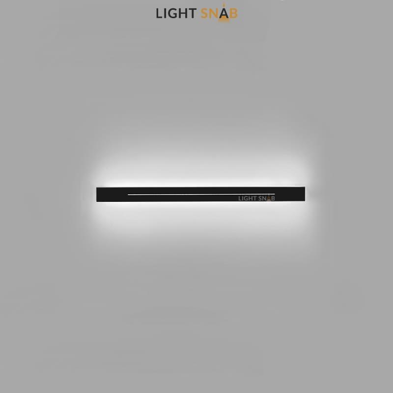 Настенный светодиодный светильник Souris размер S цвет черный свет трехцветный