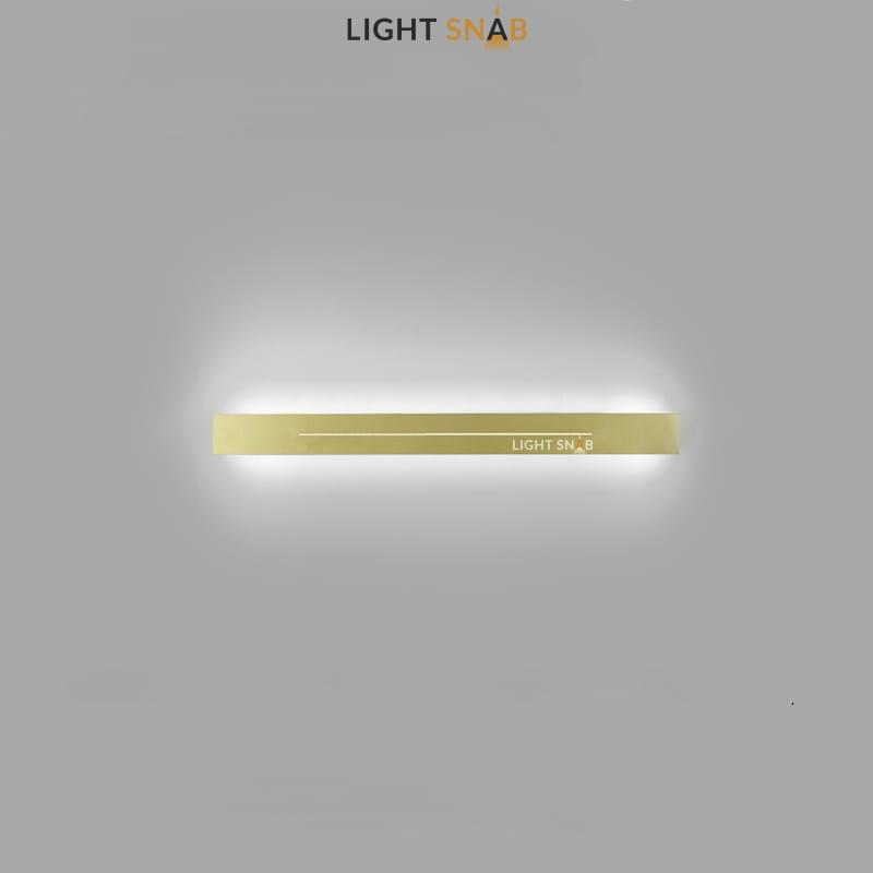 Настенный светодиодный светильник Souris размер S цвет латунь свет трехцветный