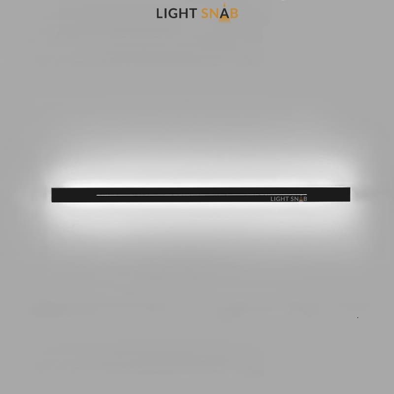 Настенный светодиодный светильник Souris размер XL цвет черный свет трехцветный