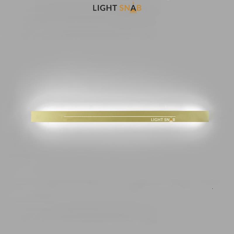 Настенный светодиодный светильник Souris размер XL цвет латунь свет трехцветный