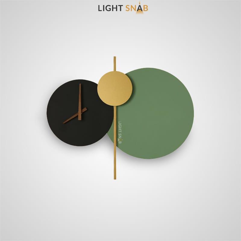 Настенный светильник Spenser в виде композиции из дисков с часовым механизмом