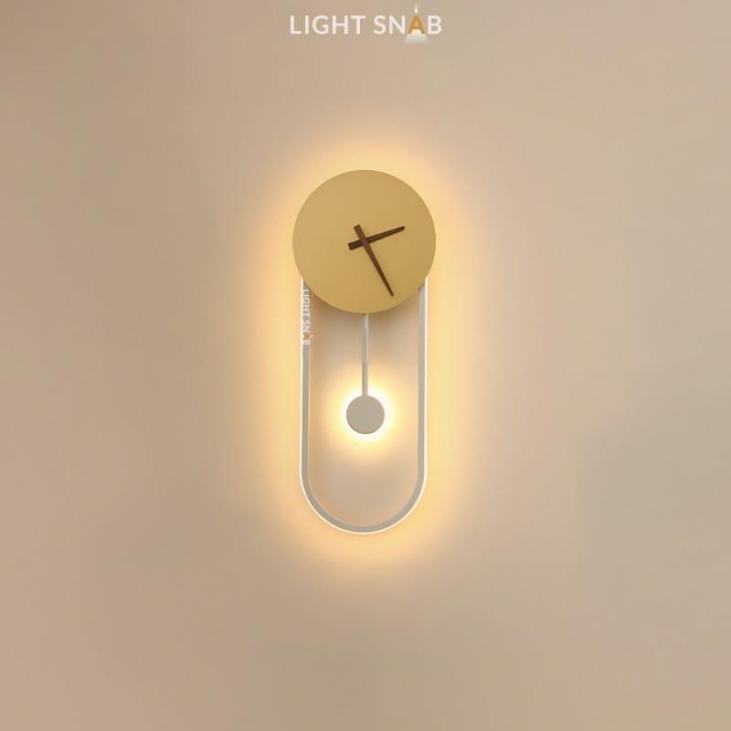 Настенный светильник Spenser модель C цвет белый + латунь