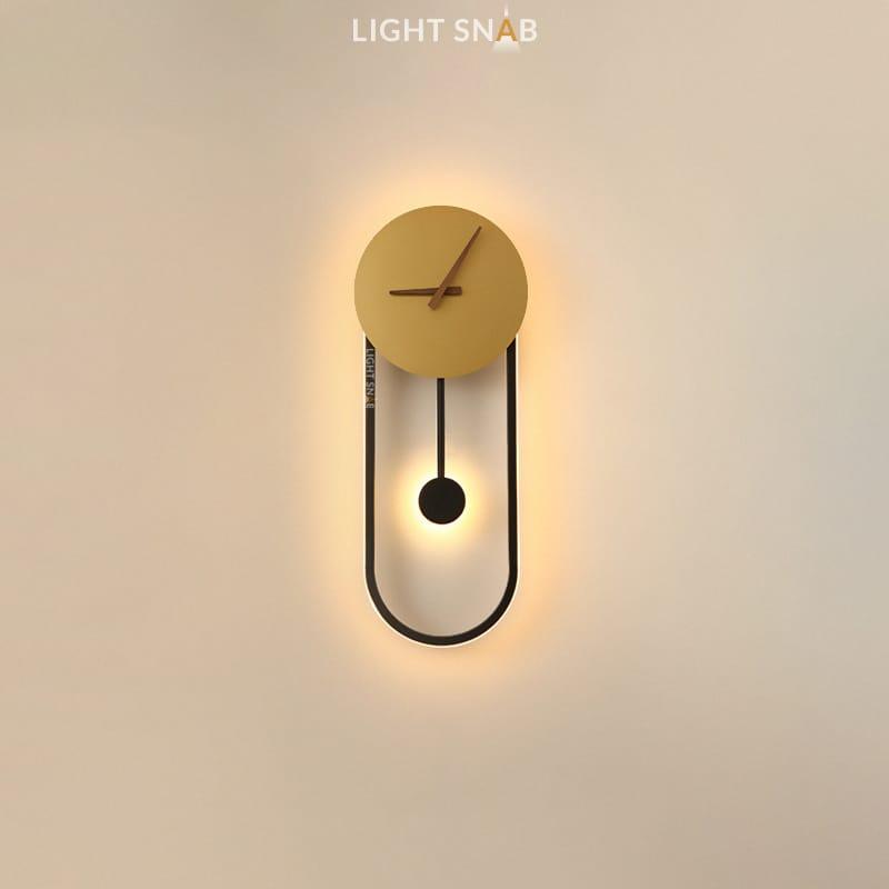 Настенный светильник Spenser модель C цвет черный + латунь