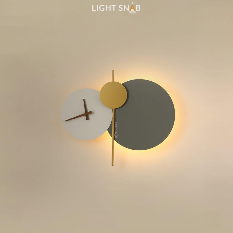 Настенный светильник Spenser модель D цвет белый + серый