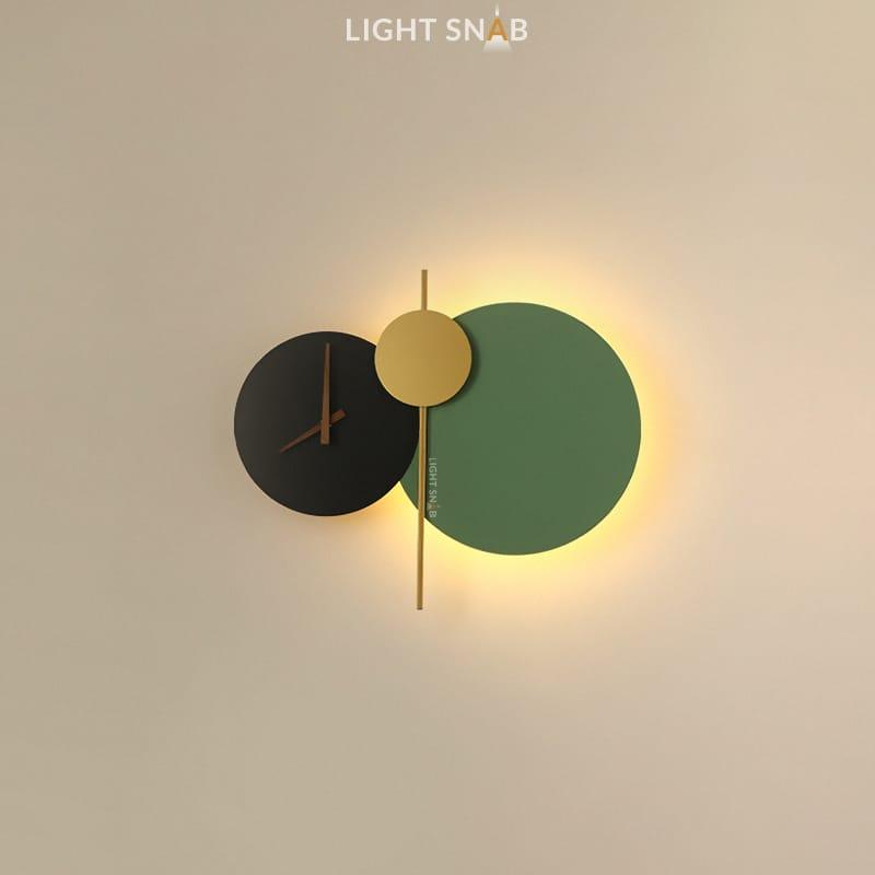 Настенный светильник Spenser модель D цвет черный + зеленый