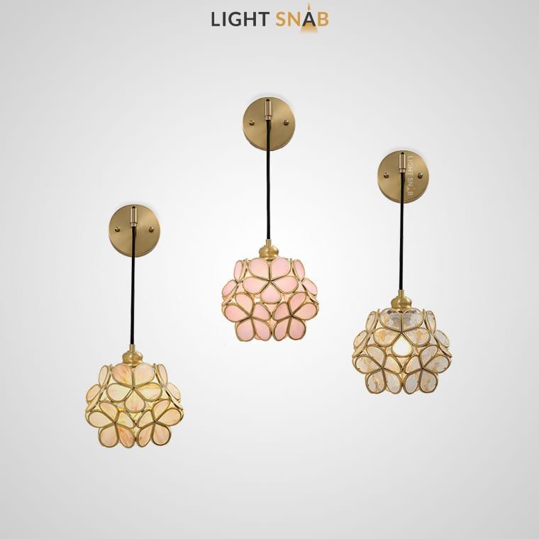 Настенный светильник-бра Sum Wall со стеклянным абажуром