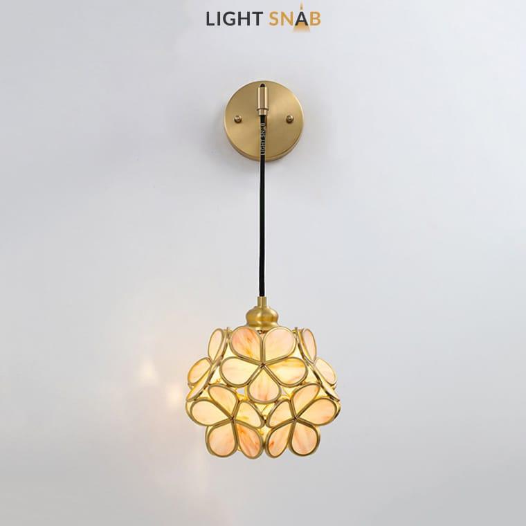 Настенный светильник-бра Sum Wall цвет розовый мрамор