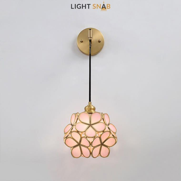 Настенный светильник-бра Sum Wall цвет розовый