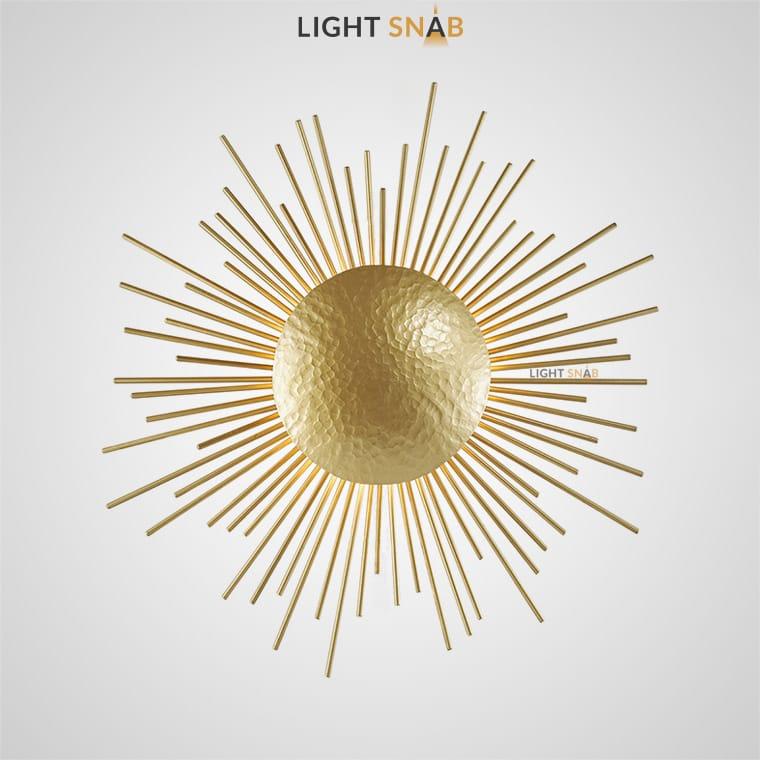 Настенный светильник Sun Wall в виде солнечного диска с расходящимися лучами