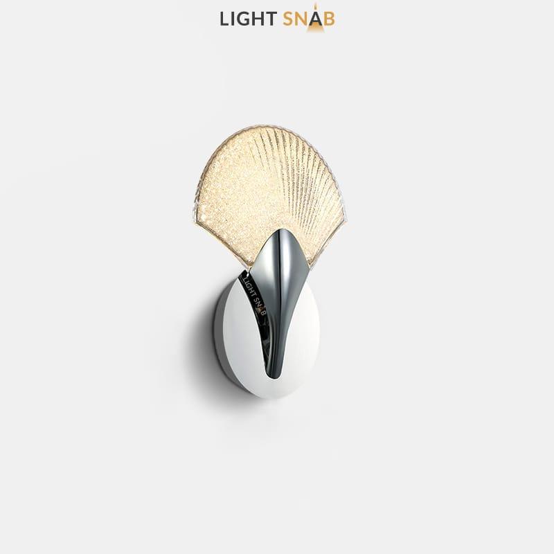 Светодиодный настенный светильник Sunray цвет хром