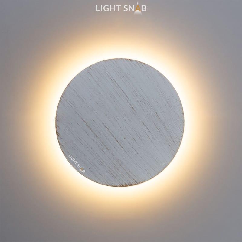 Настенный светодиодный светильник Talp размер M цвет белый + золото