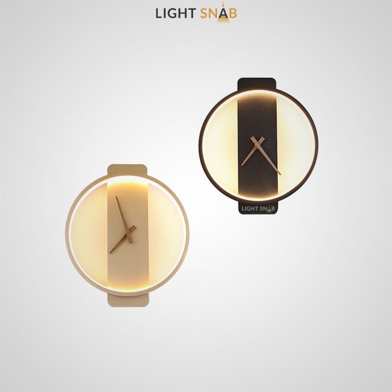 Настенный светильник-часы Time со светодиодной лентой по внутреннему периметру
