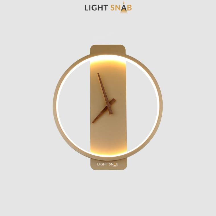 Настенный светильник-часы Time модель A (кольцо) цвет золото