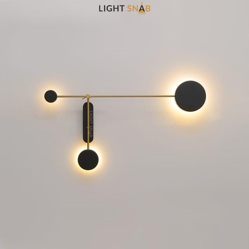 Светодиодная настенная лампа Tint Trio модель A теплый свет