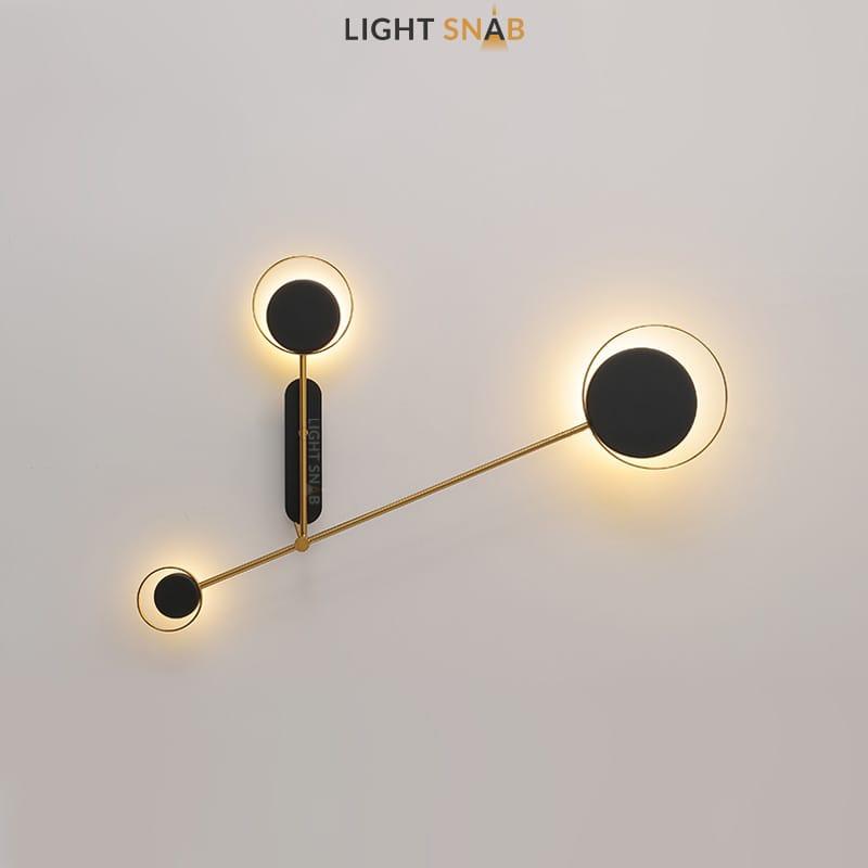 Светодиодная настенная лампа Tint Trio модель B теплый свет