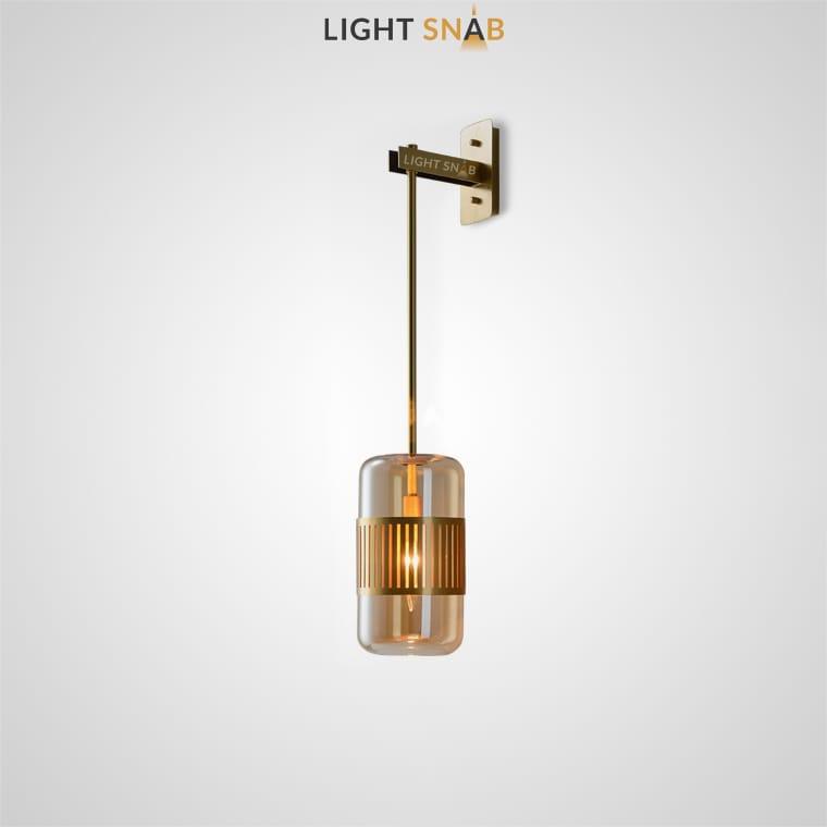 Настенный светильник Trait Wall цвет янтарь