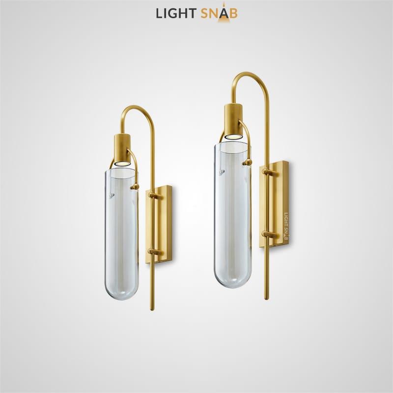 Настенный светильник Tread с цилиндрическим плафоном и стеклянным абажуром в форме колбы