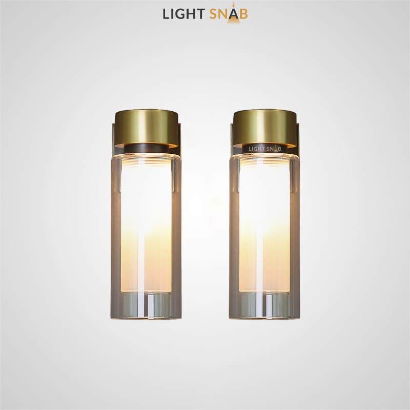 Настенный светильник Verge Wall с цилиндрическим плафоном из стекла