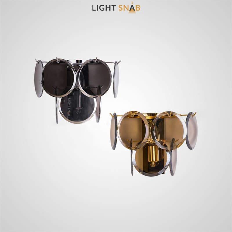 Настенный светильник Verle B Wall  с абажуром из декоративных стеклянных подвесок круглой формы с фасетированными краями