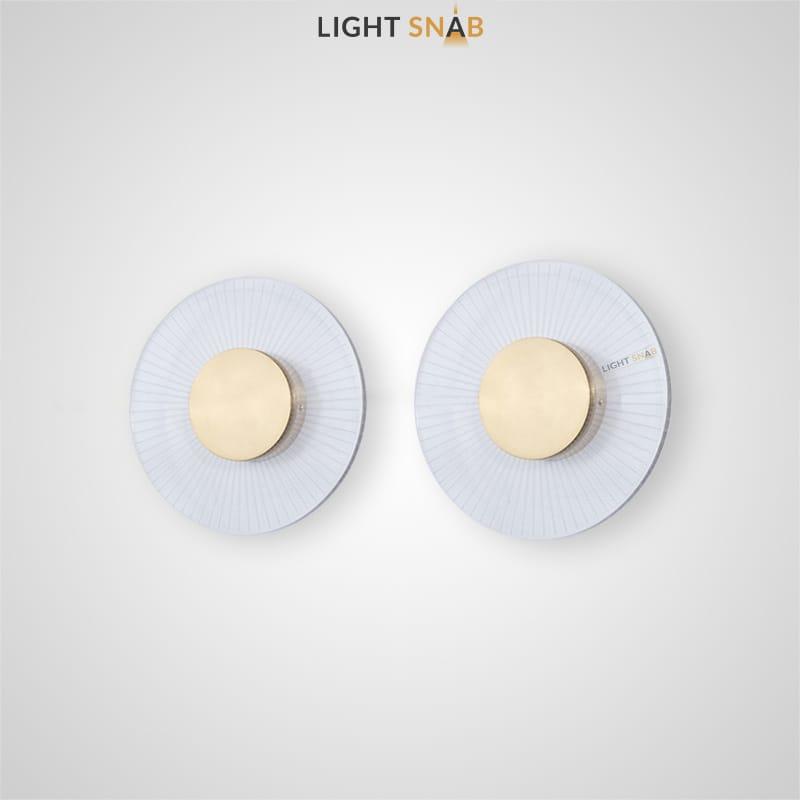 Настенный светодиодный светильник Winter с прозрачным плафоном в форме диска с металлическим центром