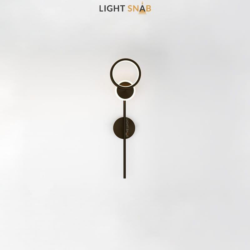 Настенный светодиодный светильник Zingy модель A цвет черный