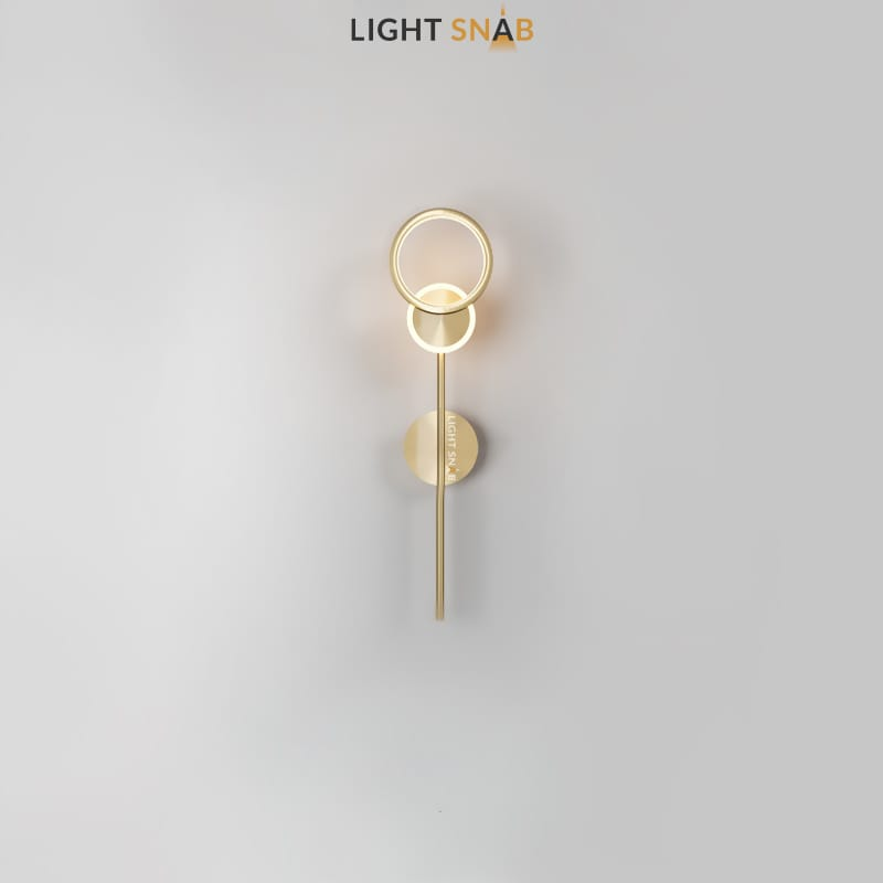 Настенный светодиодный светильник Zingy модель A цвет латунь
