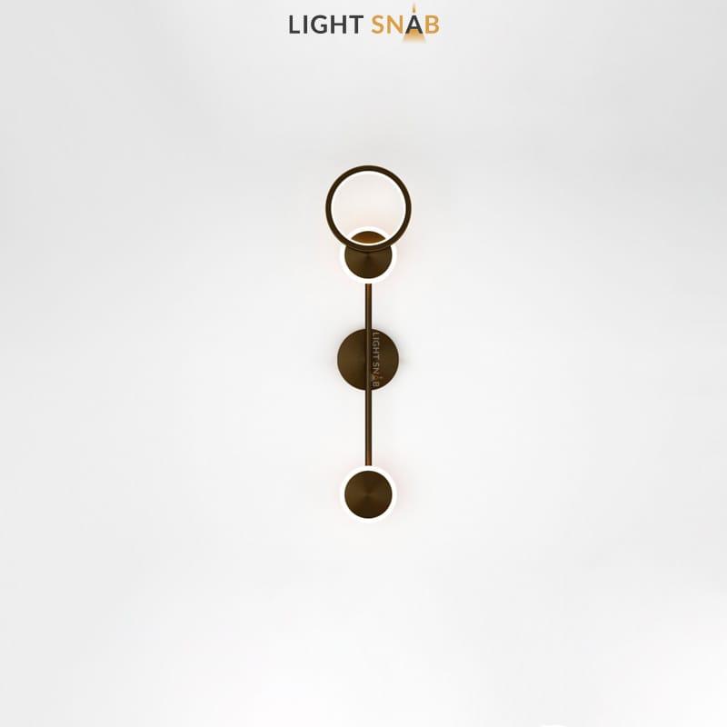 Настенный светодиодный светильник Zingy модель B цвет черный