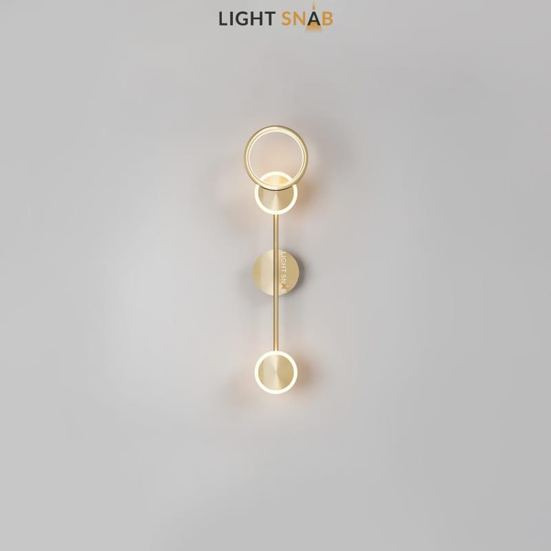 Настенный светодиодный светильник Zingy модель B цвет латунь