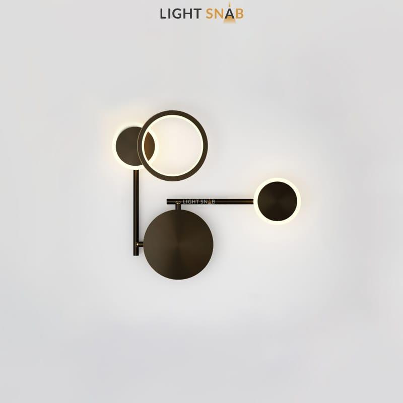 Настенный светодиодный светильник Zingy модель C цвет черный