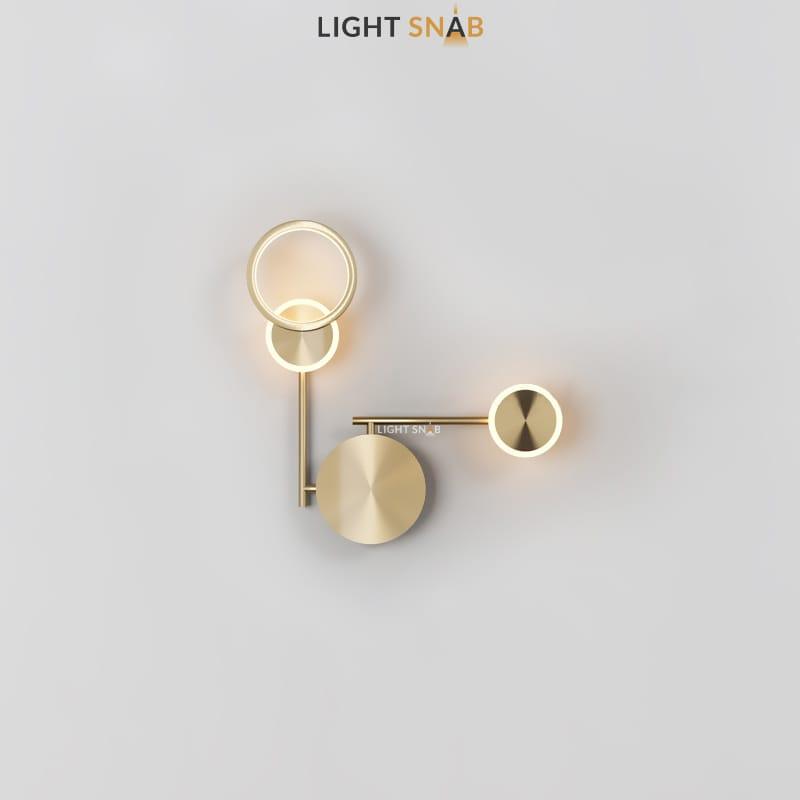 Настенный светодиодный светильник Zingy модель C цвет латунь