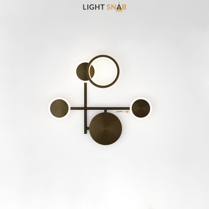 Настенный светодиодный светильник Zingy модель D цвет черный
