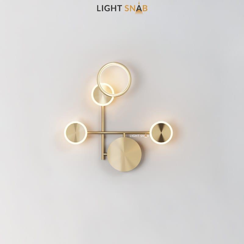 Настенный светодиодный светильник Zingy модель D цвет латунь