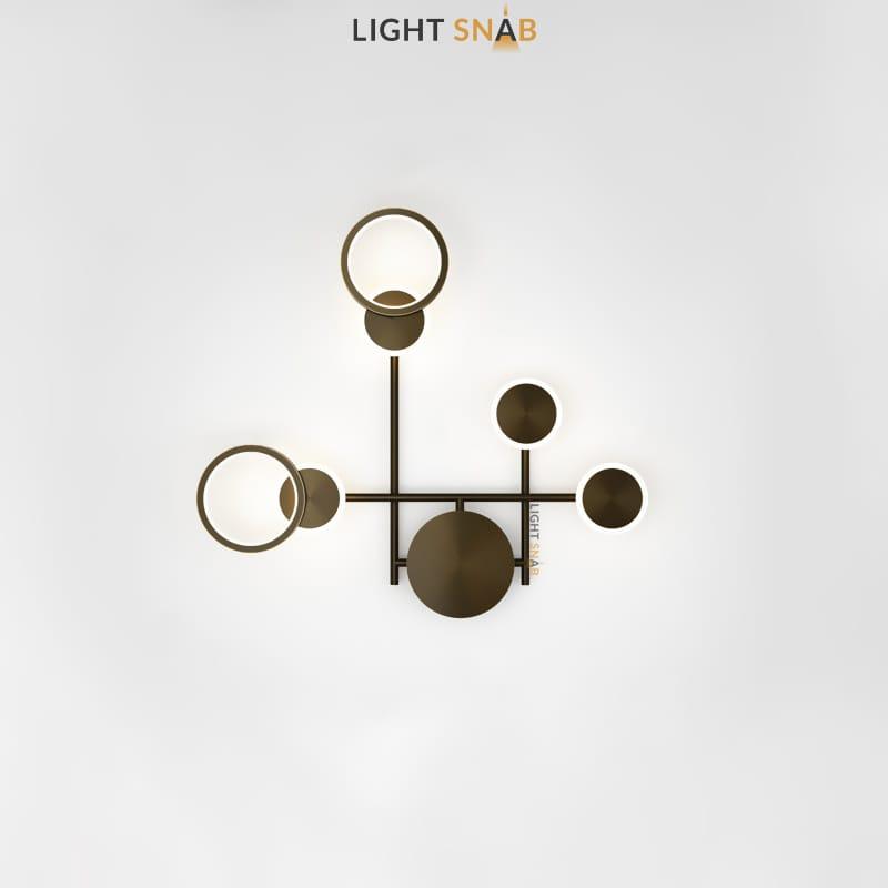 Настенный светодиодный светильник Zingy модель E цвет черный