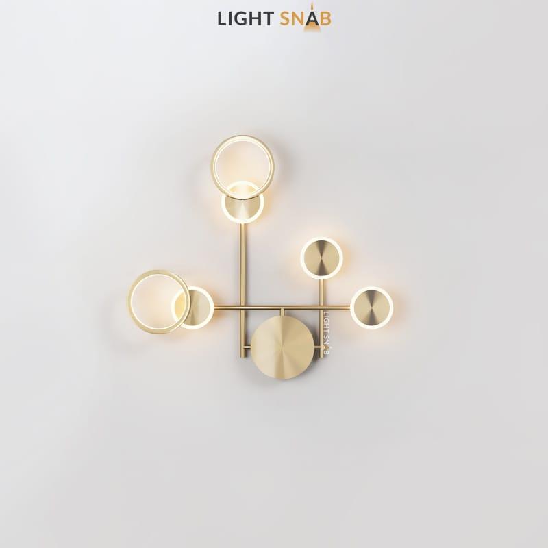 Настенный светодиодный светильник Zingy модель E цвет латунь
