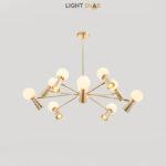 Люстра Abelina 20 ламп. Цвет золото + белый