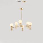 Люстра Abelina 12 ламп. Цвет золото + белый