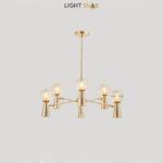 Люстра Abelina 12 ламп. Цвет золото + янтарь